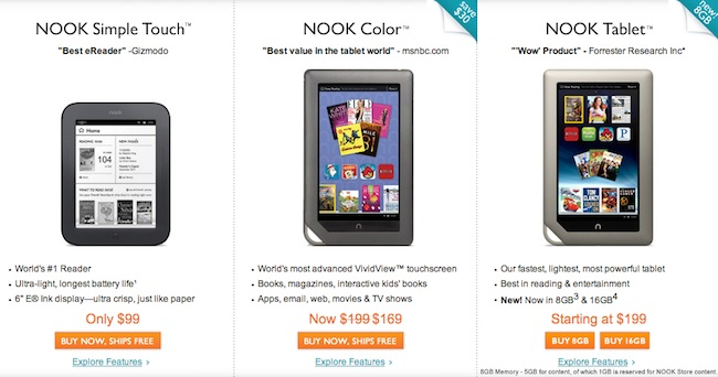the revamped nook lineup